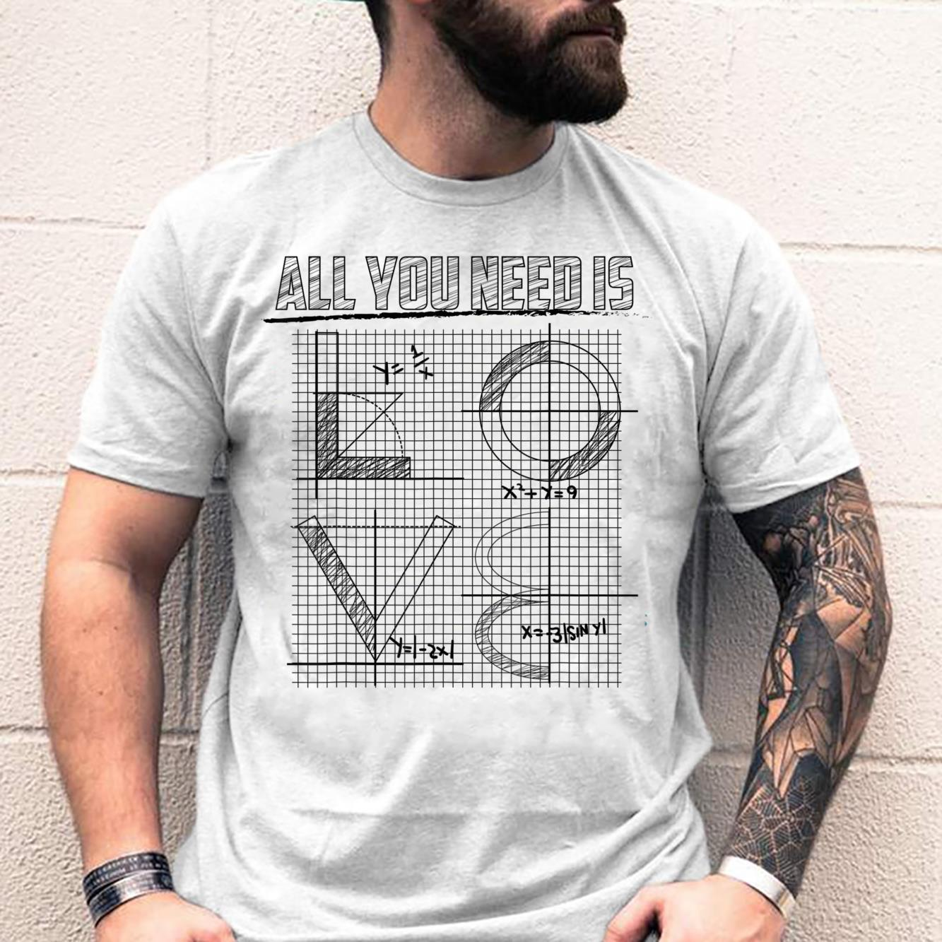 All You Need Is Love Cool Algebraic Solutions Shirt
